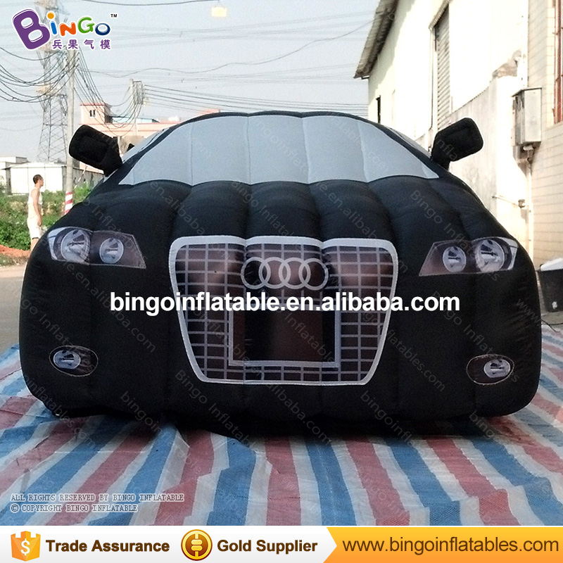 High quality 5 Meters long big inflatable car customized digital print black blow up car model for exhibition inflatable toys customized 3 meters long giant inflatable shark high quality decorative blow up shark replica for sale toys