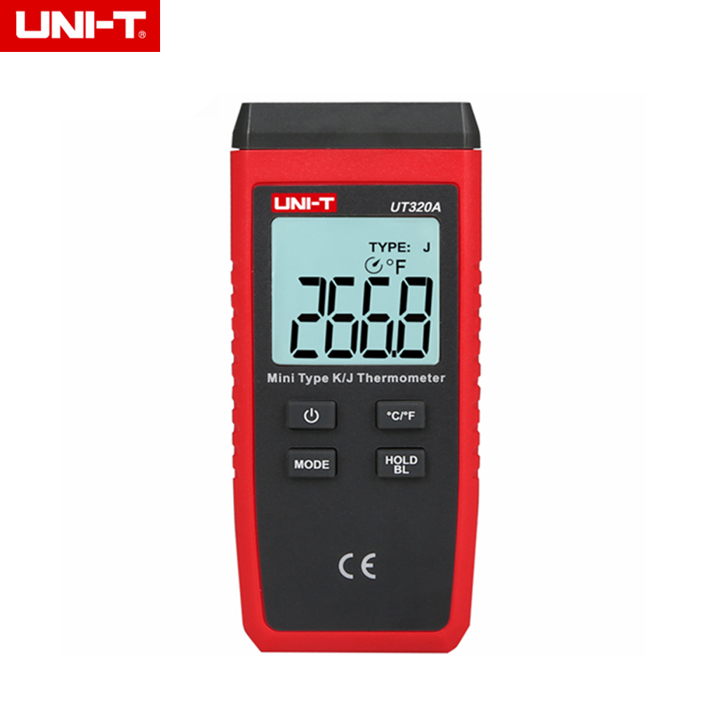 UNI-T UT320A Mini Contact K/J Type Thermocouple Thermometer C/F Temperature Meter LCD Backlight