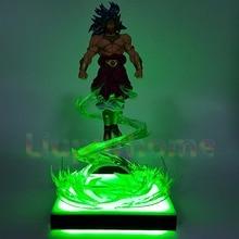 Led Lights Dragon Ball Z Action Figures Anime Broly Flying Lamp