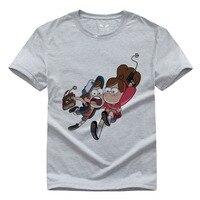 Gravity Falls anime camiseta Mabel Dipper Das Mulheres Dos Homens de Impressão T Design da camisa de T Camisa impressão digital dos homens t-shirts moda 2016