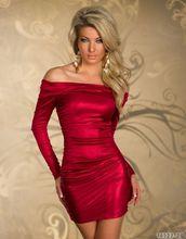 Womens Clothing Club wear long sleeves tight dress Short Mini Bodycon Dress long sleeves boat neck bodycon womens dress