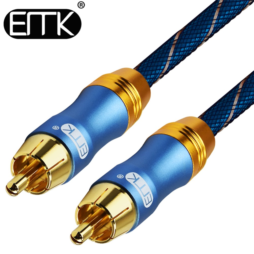 цена на EMK Digital Audio Coaxial Cable OD8.0 6.0 Premium Stereo Audio Rca to Rca Male Coaxial Cable Speaker Hifi Subwoofer Cable AV TV