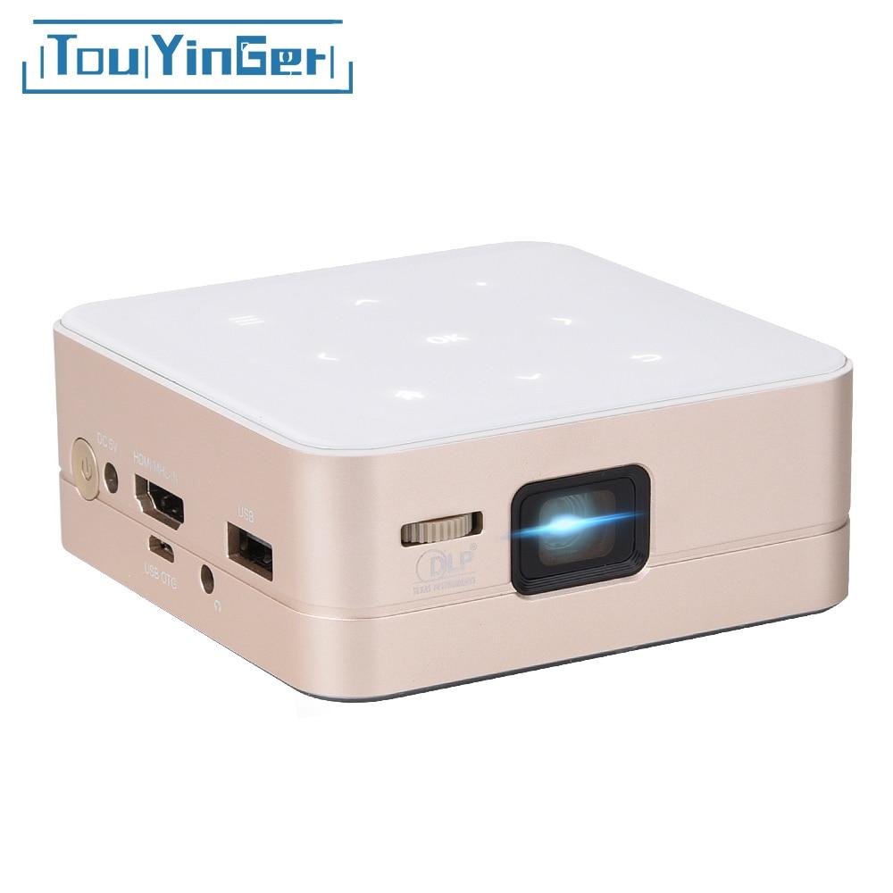 Ultramini DLP projector T5 LED Full HD mini beamer 1080P 4K video home theater portable pico data show AC3 2600mAh batter 80inch