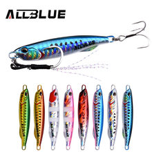 ALLBLUE DRAGER SLIM Metal Casting Jig Spoon 20G 30G Shore Drag Cast Jigging Lead Sea Bass Lure Artificial Bait Fishing Tackle(China)