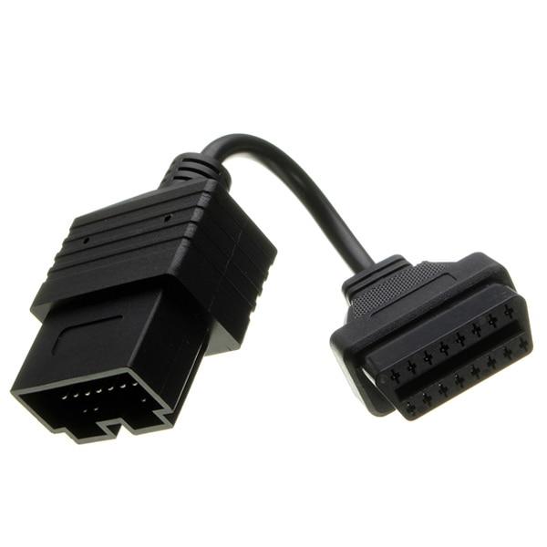 Prix pour 20 Pin À 16 Pin OBD 2 II Femelle Voiture De Diagnostic Adaptateur Connecteur Câble Pour KIA