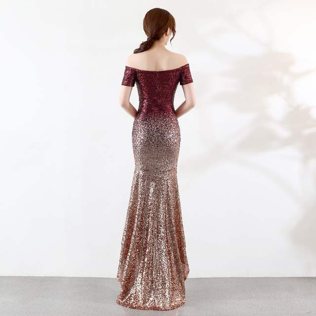 350378c35975 placeholder HSDYQ HOME Off the shoulder Evening prom dresses Floor-Length  Mermaid Sequines Vestidos Amazing Sexy