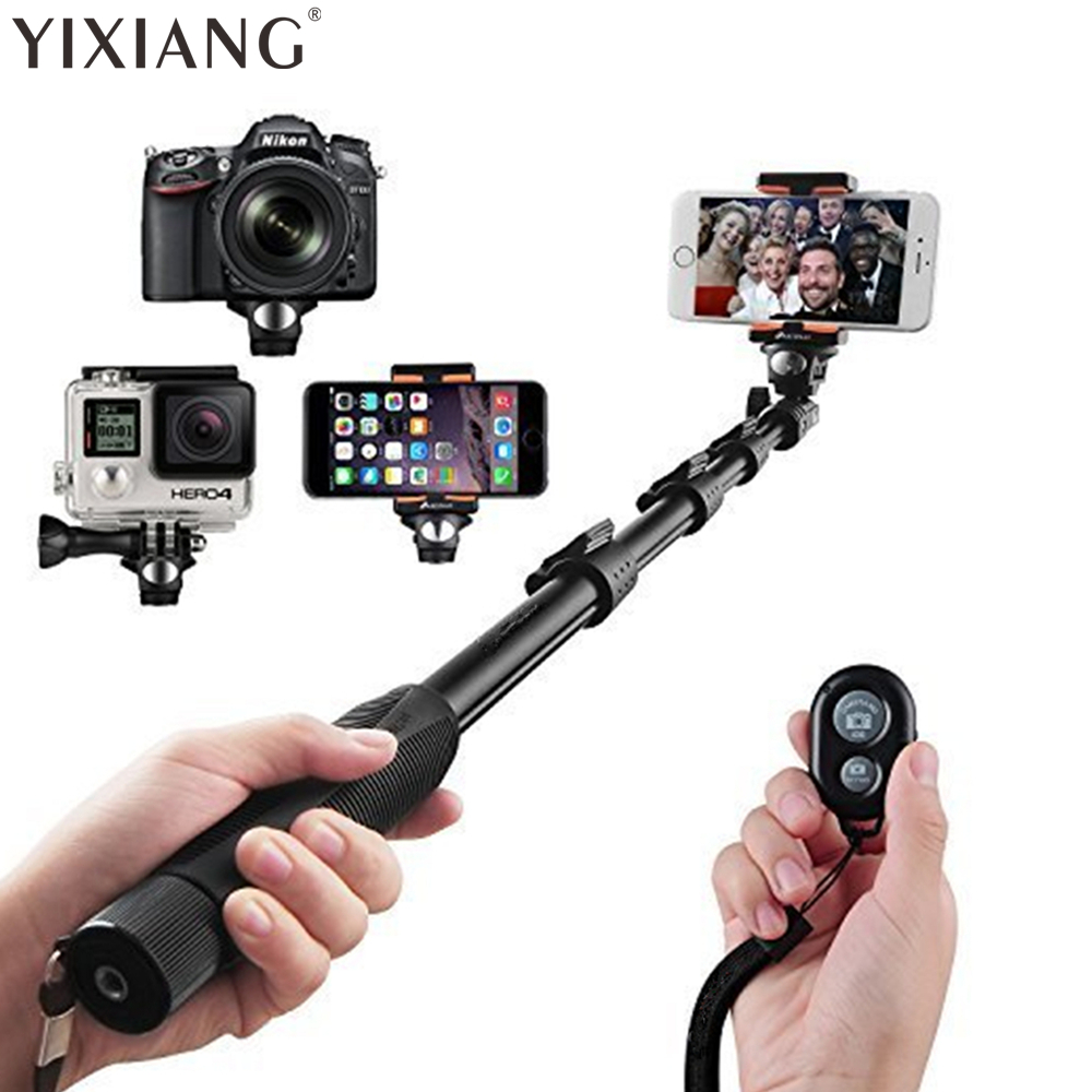 YIXIANG Selfie Stick Selvportrett Monopod Wireless Bluetooth Selfie Stick med justerbar telefonholder for iPhone Samsung HUAWE