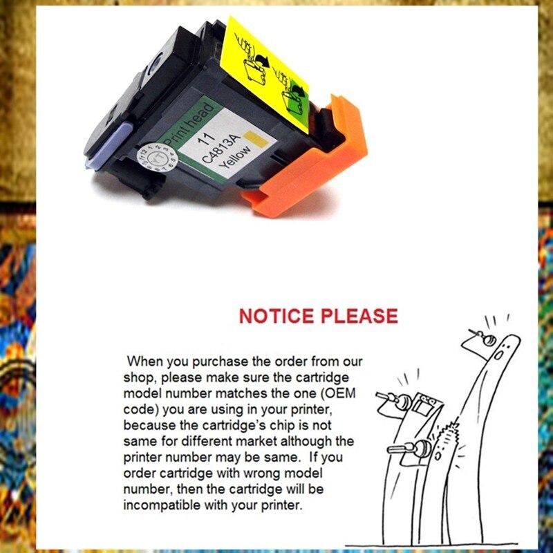 YOTAT Giallo Carcassa 11 testina di stampa per testina di stampa HP11 per HP Ufficio Jet 1000 1100 1200 2200 2280 2300 2600 2800 CP1700 100 500