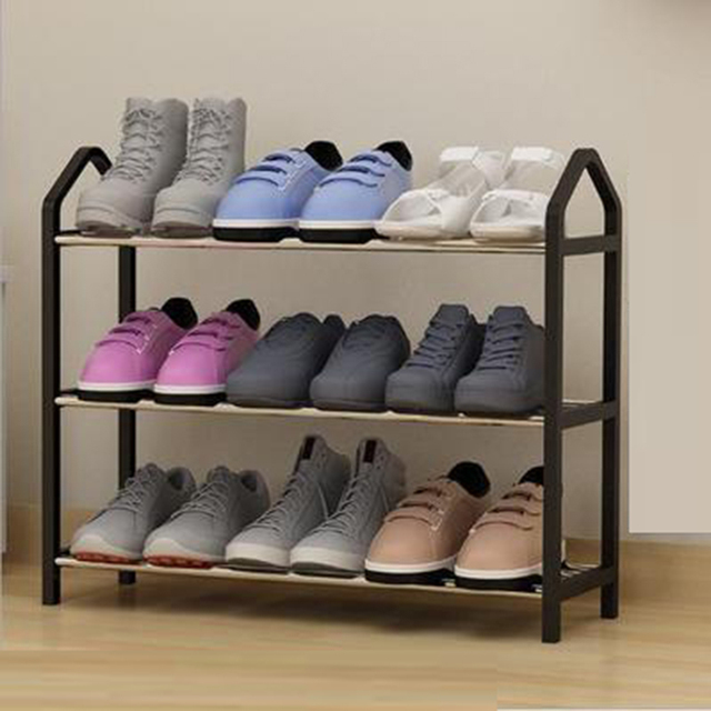 f8aa501b5845 Multi-layers Metal Iron Simple Shoes Shelf Student Dormitory DIY Shoes  Storage Rack Small Shoes