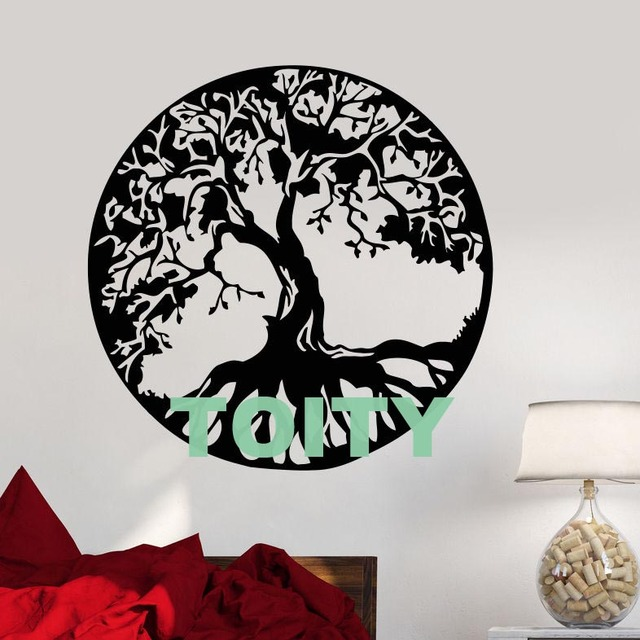 Vinyl Wall Decal Celtic Tree Of Life Family Nature Style Stickers Home Room Art Mural Decor