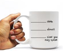 Jetzt können sie sprechen coole foto kaffeetassen abziehbild keramik Tee reise mugen
