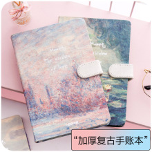купить 2019 Korean Kawaii Vintage Flower Notebook Journal Diary Weekly Planner Organizer Paper Notepad  A5 Agendas Four inner pages по цене 740.04 рублей