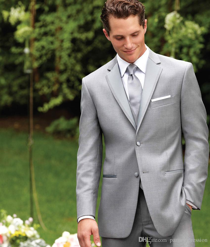 Suit Shapes Picture More Detailed About New Arrival Light Grey Wedding Suits For Men Notched