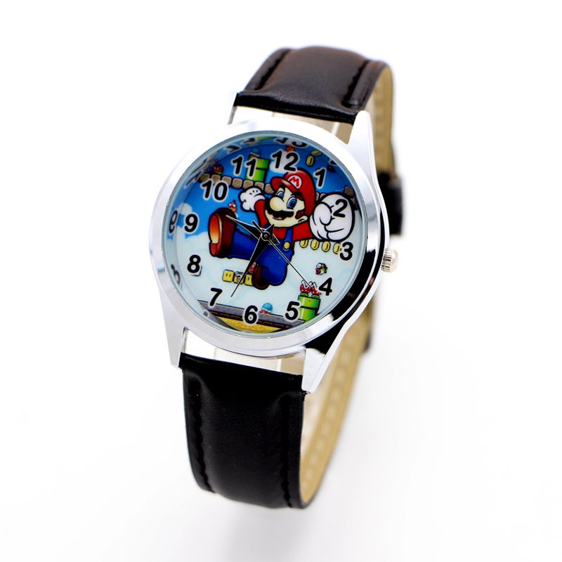 Super Mario Watch Quartz Kids Sports Fashion Cartoon Watch Wristwatch Boy Students Christmas Relogio Watch