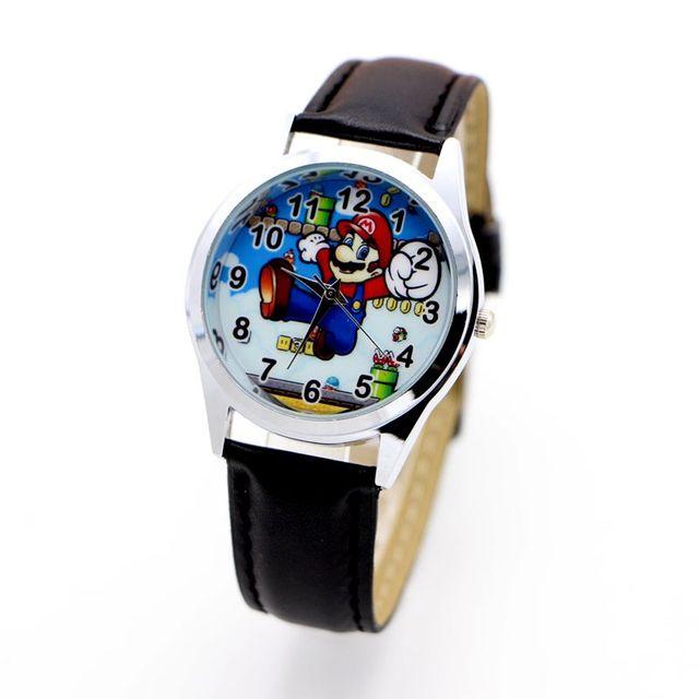 super mario watch Quartz Kids Sports fashion cartoon Watch Wristwatch Boy Studen