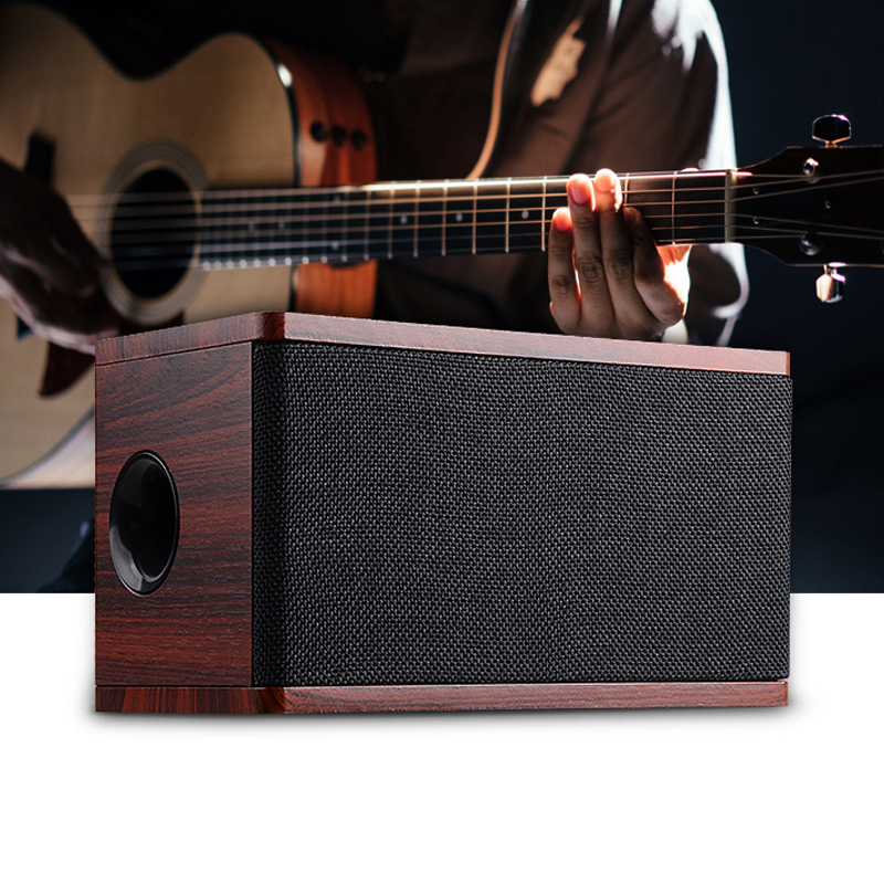 Wooden bluetooth Speaker Wireless Music Bluetootth Receiver Stereo Player Subwoofer Parlantes Anti-Dust Soundbar Speakers