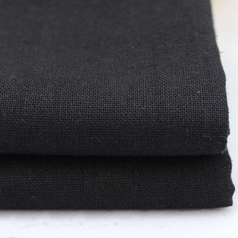 100*140cm natural flax linen material for clothing cotton linen textiles soft black fabric tecido