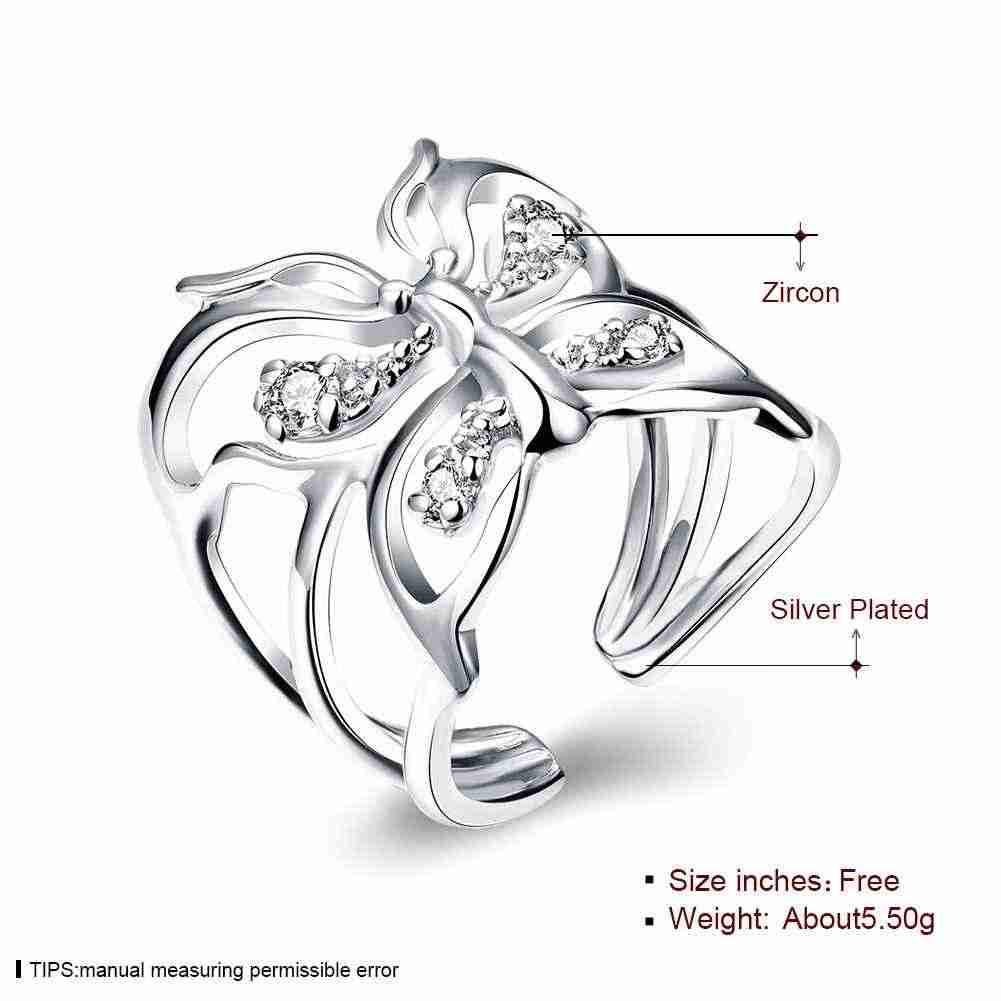 Лидер продаж 2015 новейшее серебряное обручальное кольцо инкрустация Бабочка алианкас ювелирные аксессуары SMTR035