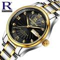 Luxury RON Brand Men's Watch Automatic Mechanical Watches Full Steel Waterproof Male Casual Business Wrist Watch Clocks 1853