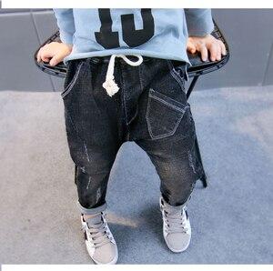 Image 3 - תינוק סתיו מכנסיים 1 3 5 שנים 6 בני ג ינס 2020 אביב ובסתיו ילדים חדשים הרלן מכנסיים גרסה קוריאנית של גאות