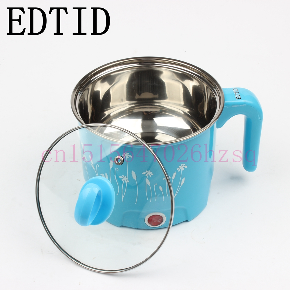EDTID Student dormitory mini multifunction cooker stew electric cup Electric Hot pot boiled egg noodles pot electric boiler mini electric pressure cooker intelligent timing pressure cooker reservation rice cooker travel stew pot 2l 110v 220v eu us plug