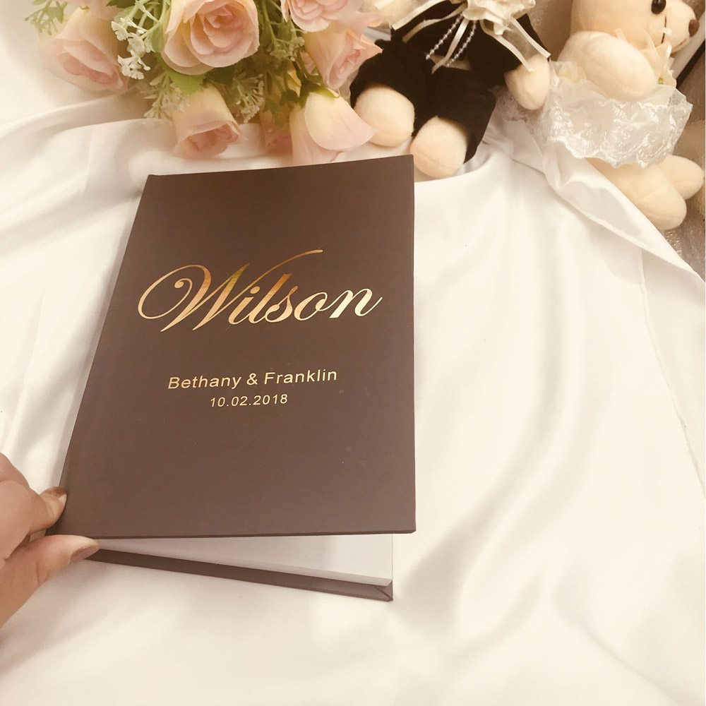 Personalized Gold Wedding Guest Book Alternative Rustic GuestBook A5size Custom Gift for Couple Rustic Wedding Guestbook  Couple