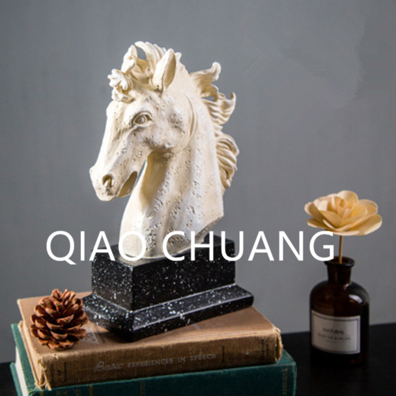 Simulation Animal Home Horse Head The Nordic Contracted Villa Porch Soft Adornment Creative Colophony Crafts Decoration G868