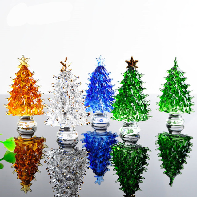 Crystal Christmas Tree star Figurines Paperweight Crafts Art&Collection  Table Car Ornaments Souvenir Home Decor Wedding Gifts - Crystal Christmas Tree Star Figurines Paperweight Crafts
