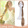 Xmas Gift! 85cm Long Rapunzel Wig Blonde Princess Wigs Styled Cosplay Hair wig for Costume Party Long Blonde Wigs Girl