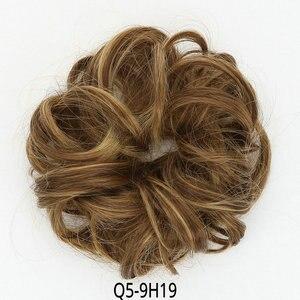Синтетические курчавые шиньоны, накладные волосы на клипсе, блонд, коричневый, черный, шиньоны, волосы для женщин, термостойкие