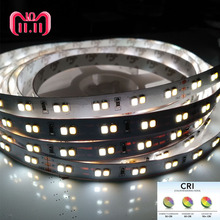 5m High CRI>90 1200lm/120LED/m  0.2W 2835 SMD LED Double Color 3000K 6000K Strip Light White 24V CCT With Test Report