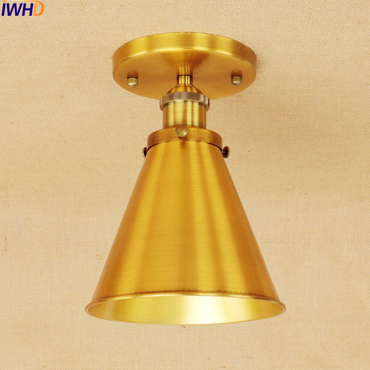 IWHD Plafon Golden LED Ceiling Lights Fixtures Corridor Edison Vintage Ceiling Lamp Industrial Lighting Lampara TechoIWHD Plafon Golden LED Ceiling Lights Fixtures Corridor Edison Vintage Ceiling Lamp Industrial Lighting Lampara Techo