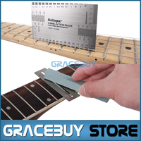 Guitar String Action Ruler Fret Protector Guards Sanding Polish Luthier Tool Musical Instrument New