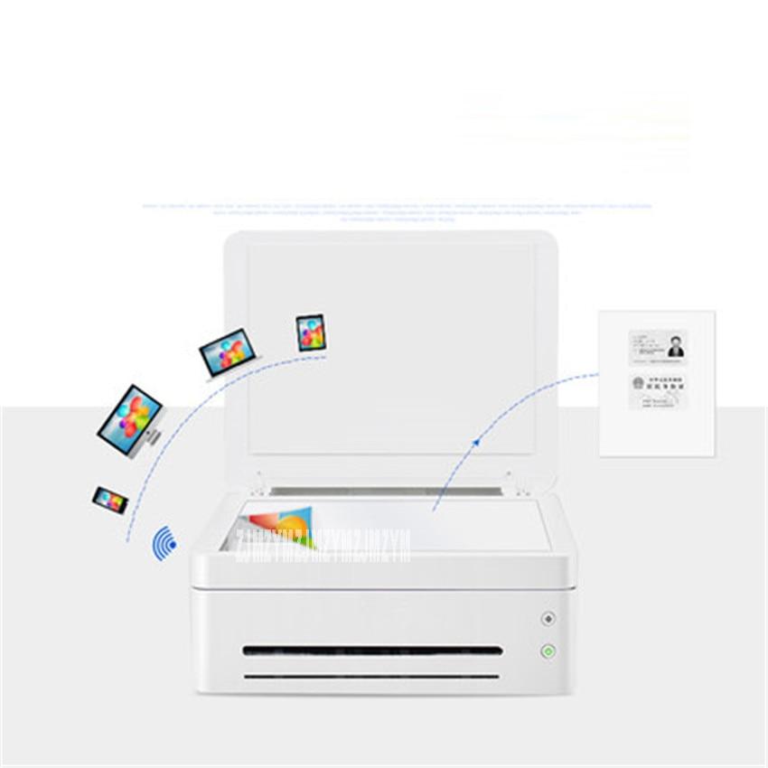 Черно белый лазерный принтер, одна машина, копировальная, беспроводная, Wi Fi, для дома, маленького офиса, скорость печати 22 страницы/минуты, 220 В, M7208W - 4
