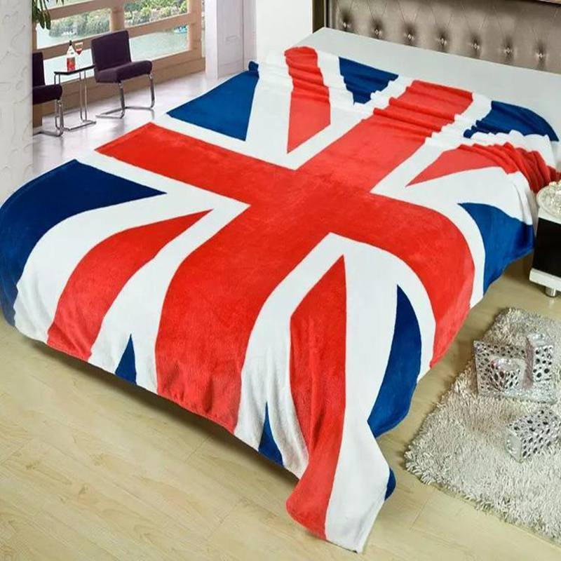 Winter Warm Blanket British & American Flag Textile Fleece Blankets On Bed Travel Sofa Bed Blanket <font><b>150*200</b></font> CM image