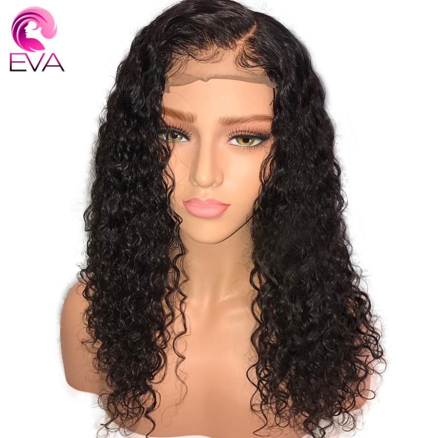 Eva Hair Curly Full Lace Human Hair Wigs With Baby Hair Pre Plucked Natural Hairline Brazilian Remy Hair Lace Wig Bleached Knots