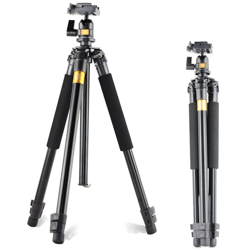 QZSD Q308 Aluminum Portable Tripod with  Ball Head Portable Detachable Changeable Traveling for Canon Nkion SLR Camera Camcorder free shipping qzsd q999 portable tripod
