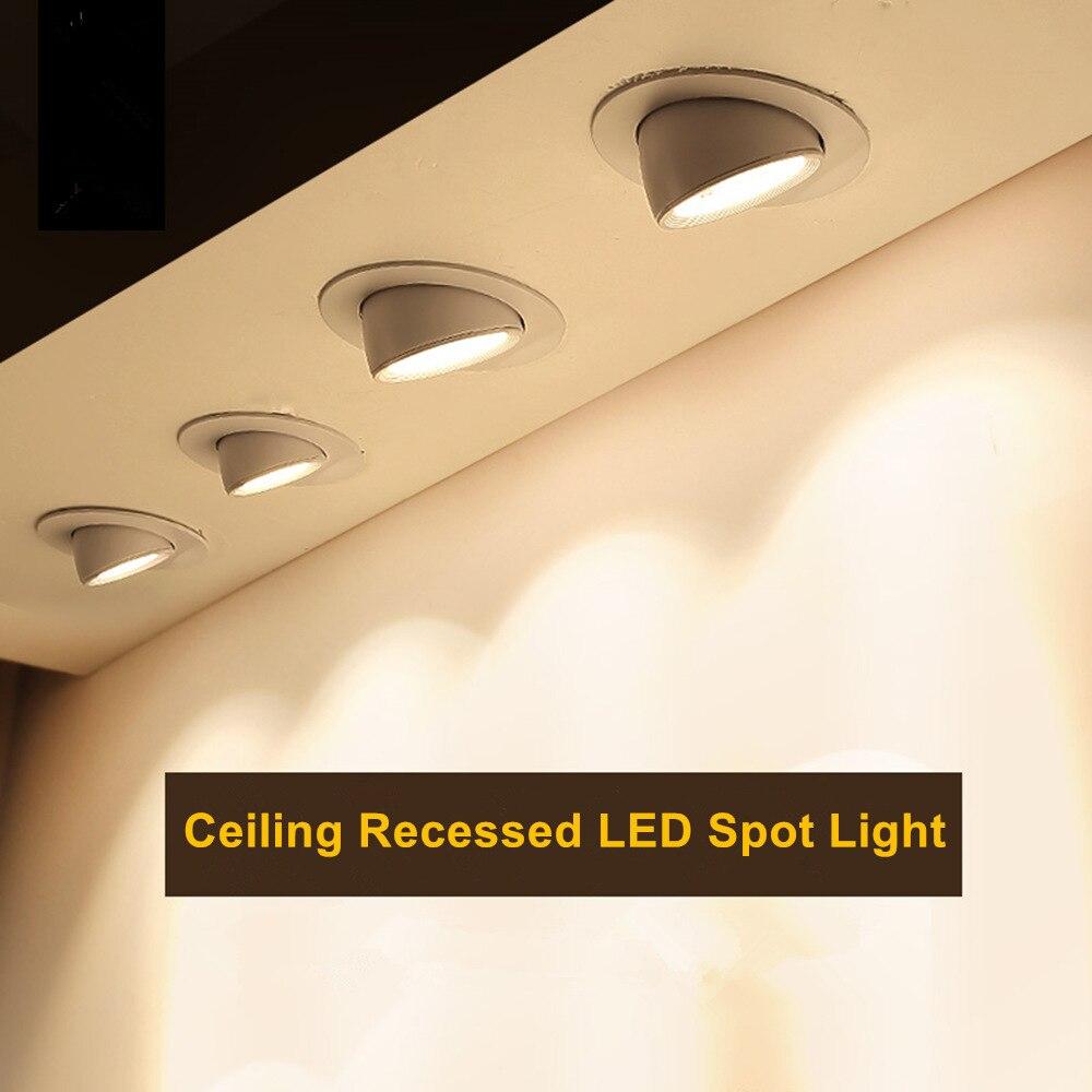 [DBF] Incorporado Retrátil LEVOU COB Teto 7 W 10 W 12 W 15 W 20 W AC85-265V ajustável 360 Graus Tronco LEVOU Downlight Iluminação Doméstica