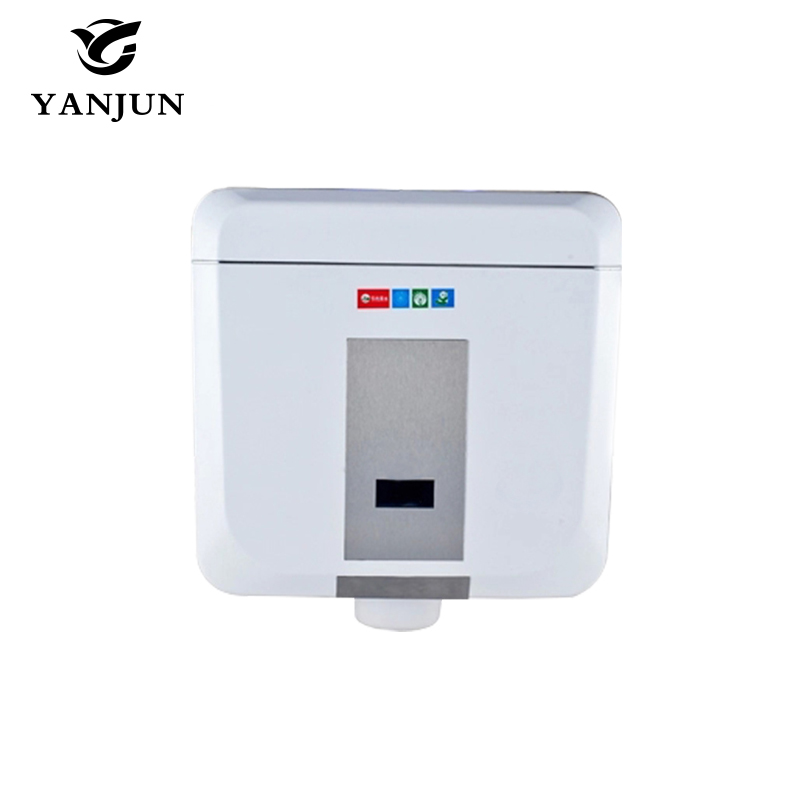 ABS Plastic Induction + Manual 2 in 1 Automatic Sensor Water Tank Double-Click Style Bath Squat Toilet Water Tank White  YJ-8001 1 2 built side inlet floating ball valve automatic water level control valve for water tank f water tank water tower