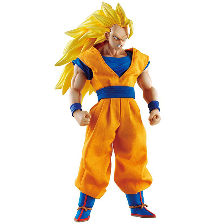 ФОТО DOD Dragon Ball Figure Son Gokou Figure DOD Son Gokou Super Seiyan 3 Figure MH Dimesion of DragonBall Z Action Figuras Model