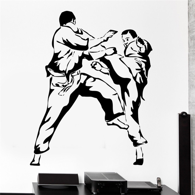 New Wall Sticker Sport Karate Martial Arts Fighting Fighter Vinyl Decal Wallpapers For Home Decor Wall  sc 1 st  AliExpress.com & New Wall Sticker Sport Karate Martial Arts Fighting Fighter Vinyl ...