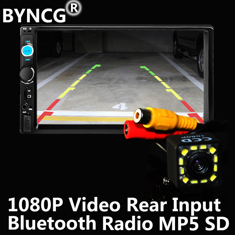 BYNCG Car MP3 Player Autoradio Universal 2Din Touch Screen Panel Car Radio Audio Video 7010B Support FM/MP5/USB/AUX/Bluetooth 7021g car mp5 player for bmw gps navigation 7 touch screen audio video player with rearview camera support tf usb aux fm radio