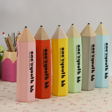 Creative Office School Stationery Pencil Case Pencil Shape Candy Colors 6 Colors Available Multifunctional Pen Bag