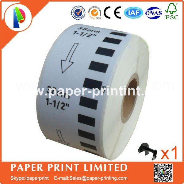 10 Rolls Brother DK-22225 Compatible Etiketten 38x30.48M Continuous Label for QL570 DK-2225 Thermal Sticker
