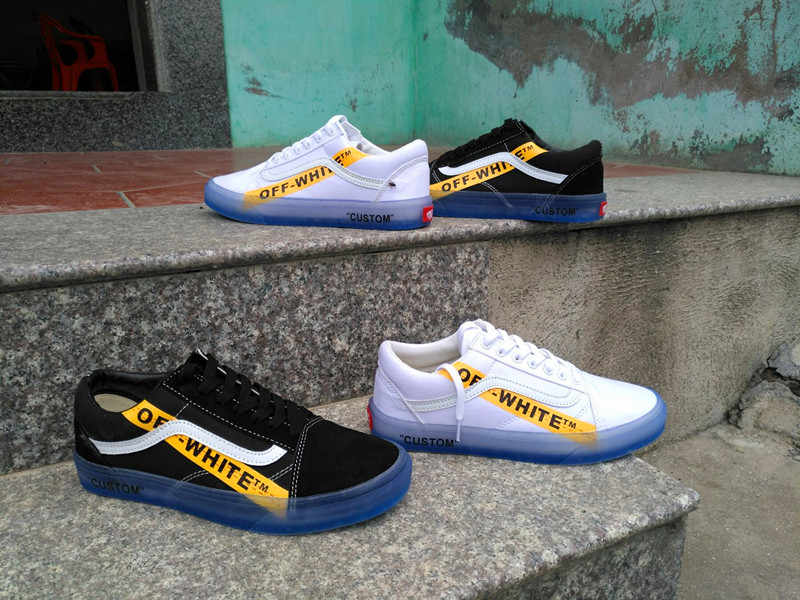 794e40c49b ... VANS CE Y62 Vans Old Skool X Off-White Classic Men and Womens Sneakers  canvas ...