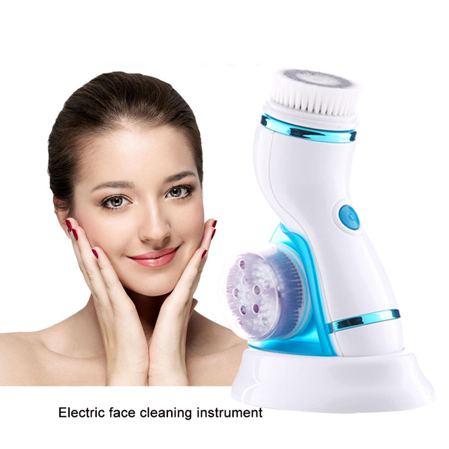 Rechargeable Facial Massage Cleanser Electric face brush Blackhead Removal Pore Cleaner Multifunctional Cleansing instrument ultrasonic electric facial cleansing brush waterproof silicone face massager vibration skin remove blackhead pore cleanser