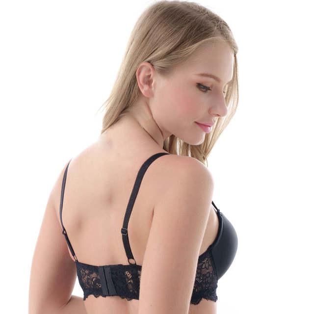 0305ce30d0582 MiaoErSiDai Plus Size Lace Bra Khaki Soutien Gorge Basic Shirt Bras For Women  30 32 34