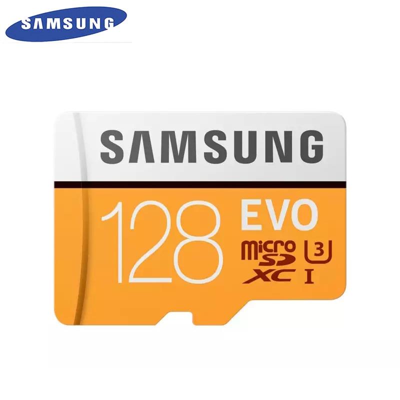 SAMSUNG Original New EVO 128GB U3 Memory Card Class10 Micro SD TF/SD Cards C10 R100MB/S MicroSD XC UHS-1 Support 4K UItra HD