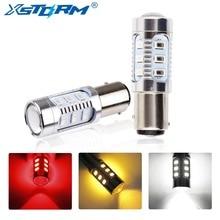 2 шт. 1157 12 5630 SMD BAY15D чип для светодиодной лампы высокой мощности лампы p21/5 Вт светодиодные автомобильные лампы стоп-сигнал источник парковки 12В белый красный желтый