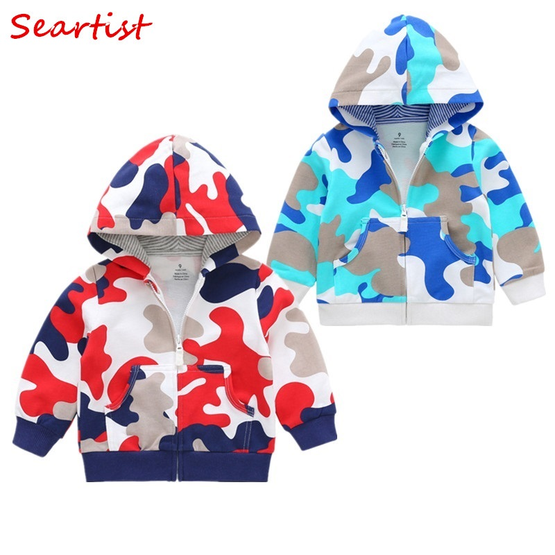 Seartist 2018 New Girls Coat Spring Zipper Sweatshirt Hoodies Outfits Baby Boys Kids Newborn Clothes Boys Hooded Jacket C35